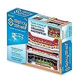 Spice Cabinet Spice Storage Shelf, Stackable Organizer. Set of 2