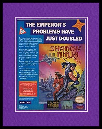 Shadow of the Ninja 1990 NES Nintendo Framed 11x14 ORIGINAL ...