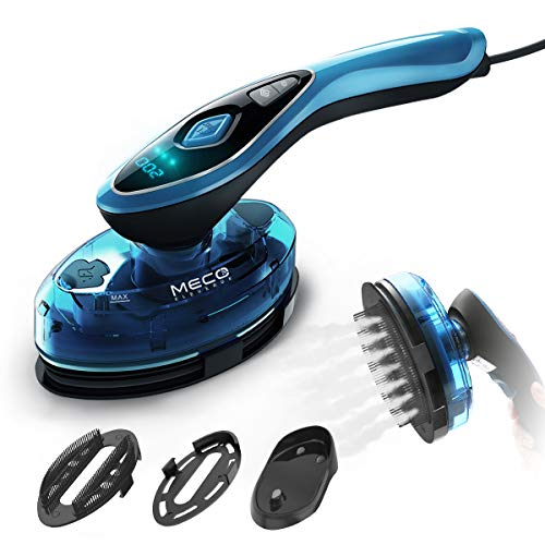 MECO Steamer for Clothes, 1200W Handheld Garment Steamer Iron 2in1 Horizontal/Vertical Dry&Steamer Ironing, Wrinkle Remover with Digital Display, Adjustable Temperature for Home Travel Gift