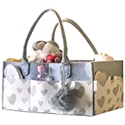 Baby Diaper Caddy and Toy Storage Basket   Portable Diaper Bag for Infants, Boys and Girls   Extra Sturdy & Large Nursery Organizer   Perfect Baby Shower Gift   Baby Registry Must Haves