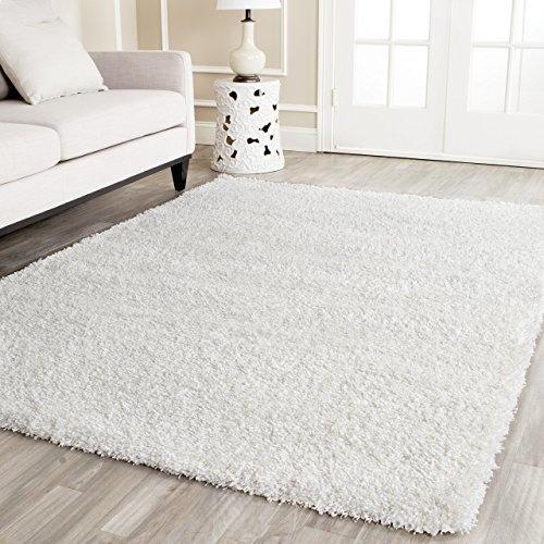 Safavieh California Premium Shag Collection SG151-1010 White Area Rug (6'7\