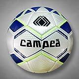Campeā Evolution Practice Soccer Ball (Size 3,4,5) (White/Blue/Flourescent Yellow, 5)