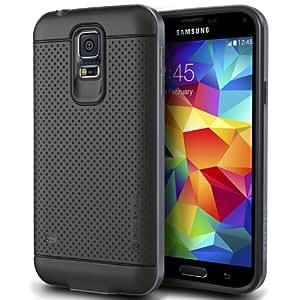 Galaxy S5 Case, Verus [Aluminum Metal Frame] Samsung Galaxy S5 Metal Case [Iron Shield] [Titanium Silver] - Extra Slim Fit Dual Layer Bumper Case - Verizon, AT&T, Sprint, T-Mobile, International, and Unlocked - Case for Samsung Galaxy S5 SV GS5 2014 Model
