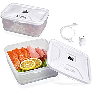 18d41328ee3 Food Storage Container Compatible with All Most of Vacuum Sealers(NutriChef  and GERYON