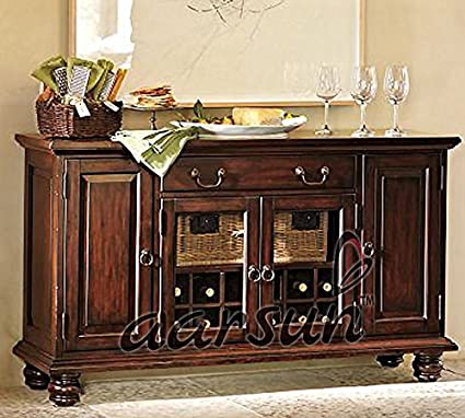 Aarsun Wooden Handcrafted Bar Cabinet - Wine Cabinet - Bar Furniture