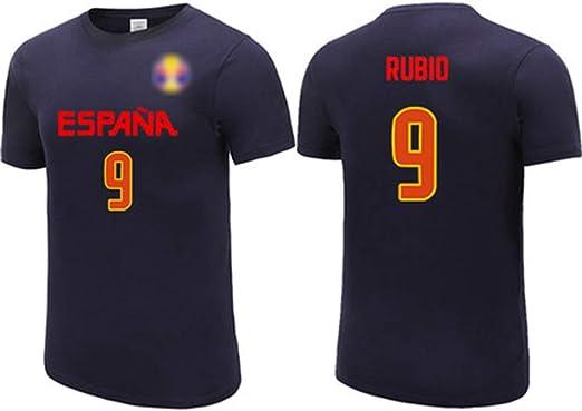 HS-XP Ricky Rubio No.9 España Equipo Nacional de la Camiseta ...