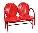Rich Pacific Vibrant Red Retro Metal Tulip Double Glider Review