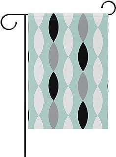 MALPLENA Color Lanterna String Stripe Flag Garden Premium Resistente alla Muffa Garden Flag, Poliestere, 1, 28x40(in)