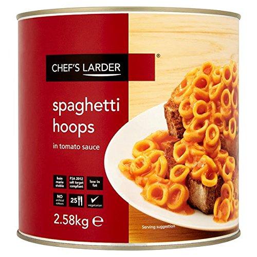 Despensa del Chef Aros del espagueti en salsa de tomate 2.58kg (Pack de 6