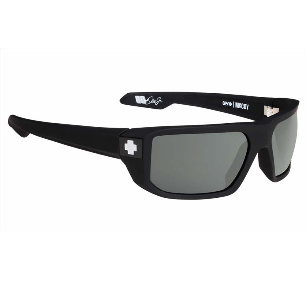 Spy Optic Mccoy Sunglasses (Happy Grey Green,Soft Matte Black)