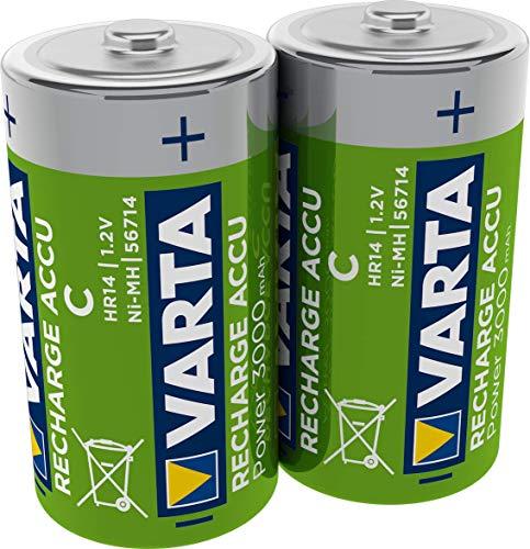 VARTA Rechargeable Accu Ready2Use vorgeladnener D Mono Ni-Mh Akku (2er Pack, 3000 mAh) , wiederaufladbar ohne Memory-Effekt - sofort einsatzbereit 2