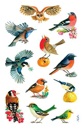 Avery Zweckform 55713 Deko Sticker, Vögel, 33 Aufkleber