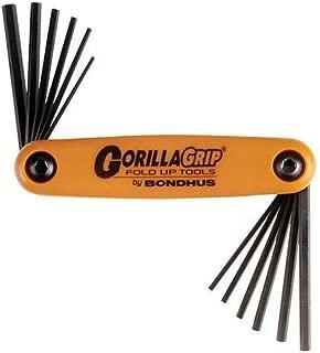 product image for Bondhus 12550 GorillaGrip Set of 12 Hex Fold-up Keys, sizes 5/64-5/32-Inch & 1.5-5mm