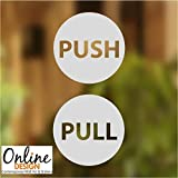 Pull-push Online Design Tür Aufkleber Schaufenster Salon Bar Café Restaurant Büro Vinylschild