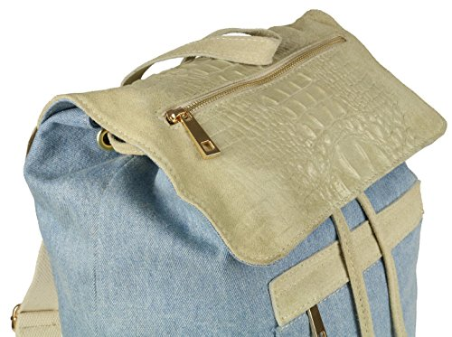Girly Handbags Mujer Claro Mochila De Bolso Azul rrxC8q