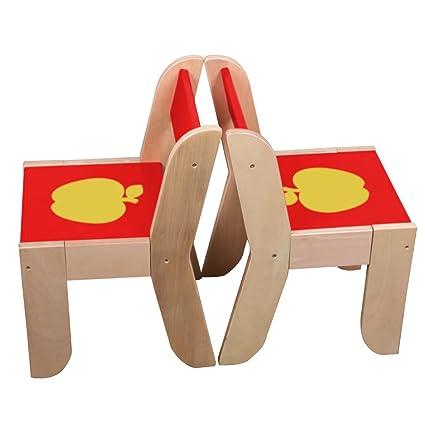 Labebe Kindertisch Holz, Roter Apfel Baby Tisch Stuhl Für 1 5 Jahre Alt,  Activity Tisch/Kinderstuhl/Kinder Tisch Holz/Ausziehbar Stuhl Tisch/Kinderzimmer  ...