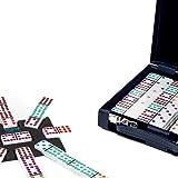 Bello Games Designer Velour Case with Mexican Double Twelve Deluxe Dominoes Set