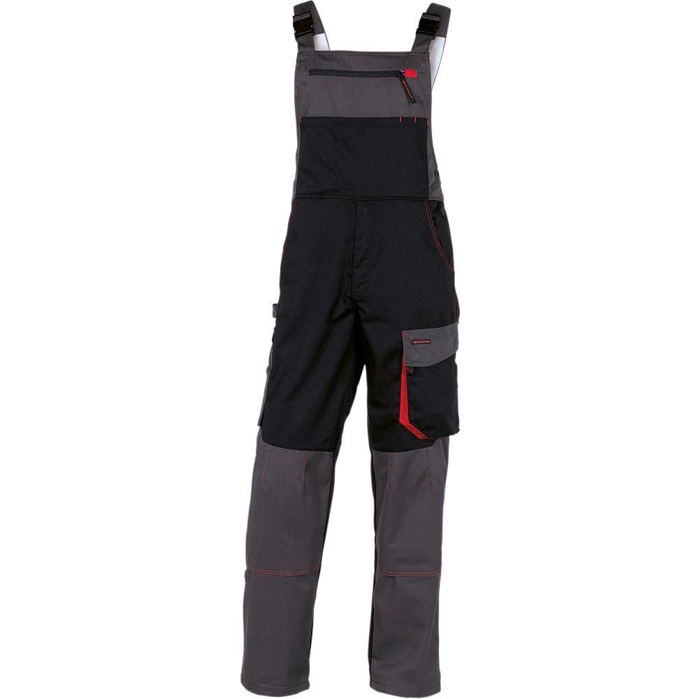 Delta Plus DMSALNRTM D-Mach Work Dungarees Polyester Cotton Black//Red M Pack of 10