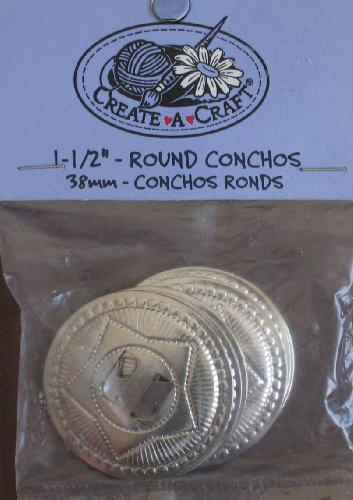 (Create A Craft Round Conchos 1-1/2