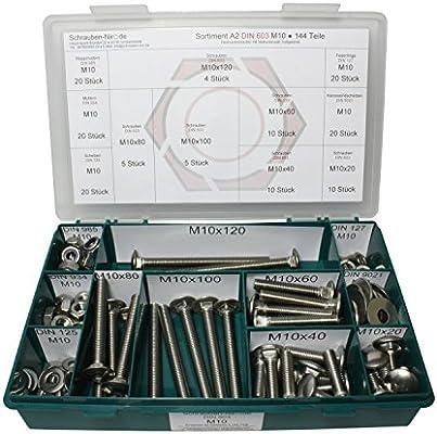 Sechskantschrauben 10 mm DIN 933 M10 x 35 Edelstahl V2A 10 Stk