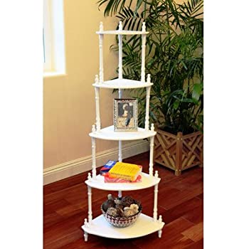 corner racks furniture. frenchi furniture 5tier corner stand finish white racks