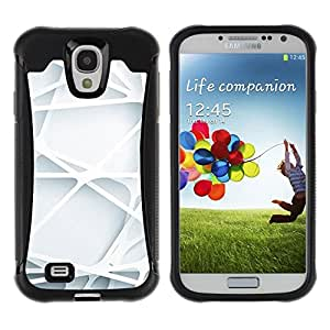 Suave TPU Caso Carcasa de Caucho Funda para Samsung Galaxy S4 I9500 / Engineering Lines Clean Minimalist / STRONG