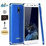Xgody D22 Smartphone Android 7.0 Nougat 5.5'' 4G LTE Quad Cord Unlocked 32GB(16GB ROM+16GB TFcard) 2GB RAM Dual SIM Dual Cameral 13 MP&8 MP (Azul(Blue)+TF)
