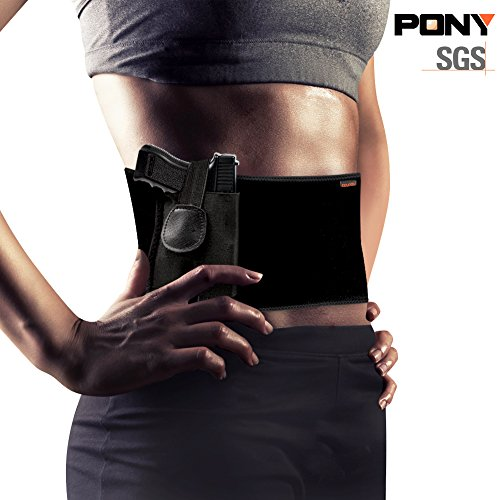 KKUP2U-Belly-Band-Gun-Holster-Concealed-Carry-Adjustable-Waist-for-Men-and-Women-Fits-Ruger-LCP-Glock-17-19-4243-Sig-Sauer-MP-Shield-and-Similar-Sized-Pistol-Ultrathin-Design