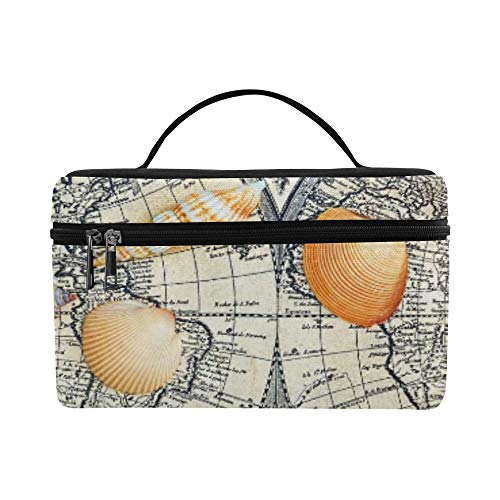 Moscow Russia April Sea Shells Lie On Pattern Lunch Box Tote Bag Lunch Holder Insulated Lunch Cooler Bag For - Lies Seashell