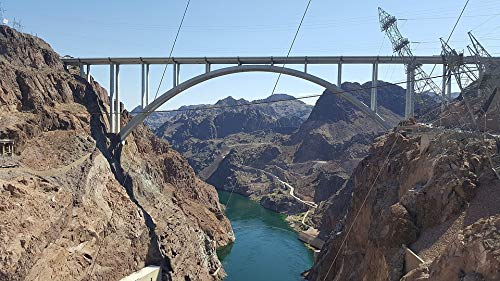 Home Comforts Canvas Print Hydroelectric Nevada Electricity Hoover Dam USA Vivid Imagery Stretched Canvas 32 x - Electricity Dam