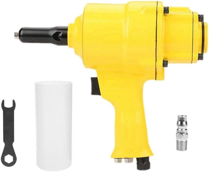 Sushandadian Pneumatic Riveter Industrial Double Cylinder Typ Pneumatic Nail Gun Riveting Tool Insert Nut Tool (Color : Yellow) Yellow