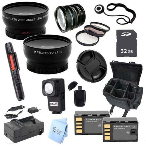 Advanced Professional Kit: for JVC GC-PX100 Full HD Everio Camcorder 46mm Kit