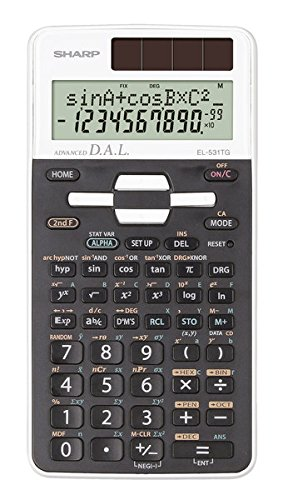 Sharp SH-EL531TGWH Scientific Calculator by Sharp