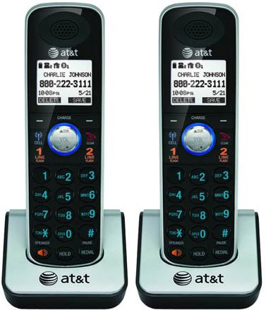 AT&T TL86009 Extra Handset & Charger DECT 6.0 Technology 1.9GHz (2 Pack)
