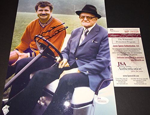 Mike Ditka Chicago Bears JSA Witness COA Autographed Signed 8x10 Photo Picture George Halas