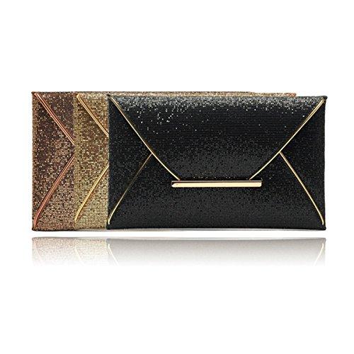 Black A02 femme A01 Pochette Gold pour ECYC 7xqWI1zfUn