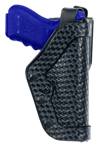 Uncle Mike's Mirage Basketweave Slimline Pro-3 Triple Retention Duty Holster (21, Right Hand)