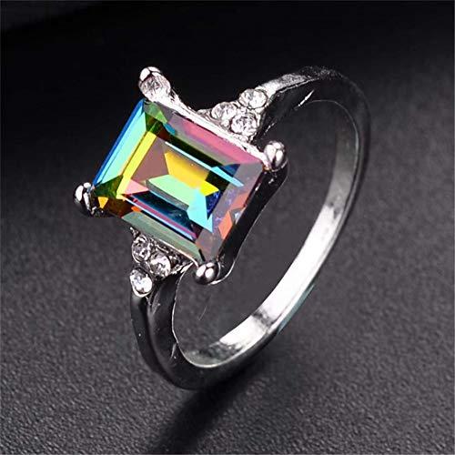 Heyuni.Zirconia CZ Ring Austria Crystal Lady Bridal Wedding Engagement Ring Jewelry Gift