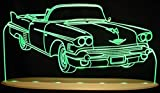 1958 Cadillac Convertible Awesome 21'' Acrylic Lighted Edge Lit LED Sign / Light Up Plaque 58 VVD12 Full Size USA Original