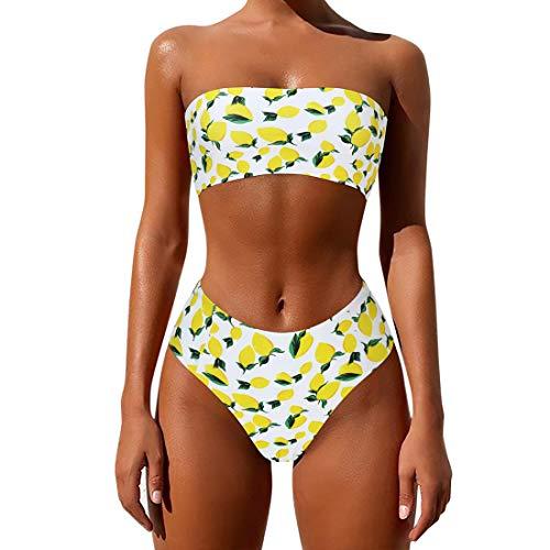 MOSHENGQI Women's 2 Pcs Bandeau Bikini Top