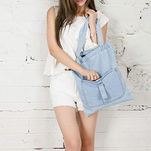 Bandoulière à iShine Cabas Sac 4 Main Style ° à Sac Retro Denim Sac Jeans Occasionnel Tote Femmes Bag N Owx6rw