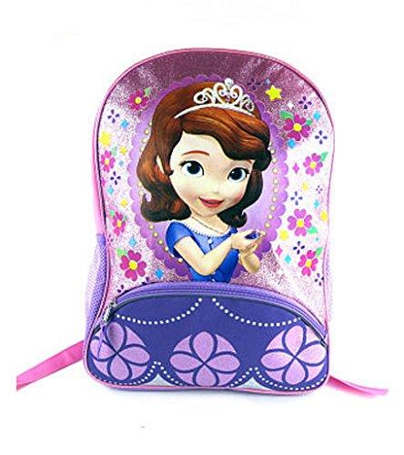 [해외]Disney Sofia The First Pink and Purple 16 inch Backpack / Disney Sofia The First Pink and Purple 16 inch Backpack