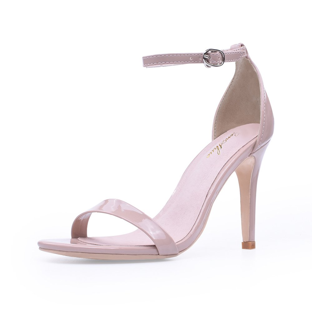 34c108cafe8 GENSHUO Women s Heeled Sandals Buckled Ankle Strap Little Platform Sandals  Stilettos Heels Pumps Buy Shoes to give Insoles