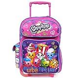 Shopkins Large School Roller Backpack 16'' Trolley Rolling Luggage Bag Besties