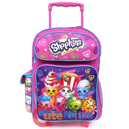 Shopkins Large School Roller Backpack 16'' Trolley Rolling Luggage Bag Besties by Unbranded*