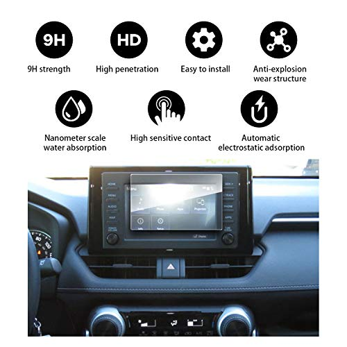 YEE PIN RAV4 5 2019 7Inch Tempered Glass, Resistant Reduce The Fingerprint Anti-Explosion Protective Film