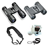 Cheap Bushnell Powerview 10×32 & 8×21 Roof Binocular Bundle w. Strap, Care Kit