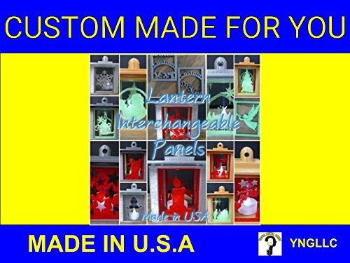 YNGLLC HOLIDAY PANEL ICE SKATES for LANTERN - 3D Printed HOME DECOR PR137-IceSkates ()