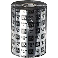 Zebra WR110x450C1-1ZZ4 Thermal Transfer Wax-Resin Ribbon, 4.33 x 1476/110 mm x 450 m, Black