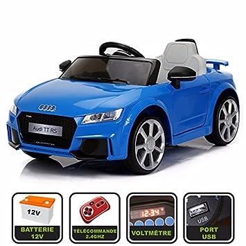 Sport Cristom Voiture Audi Licencerouge Rs Télécommande 12v 4ghz Prise 2 Enfant Slot Et De Usb Tt Pour Électrique Mp3 yvYfgIb6m7